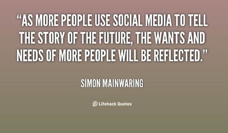 Social Marketing Quotes - Simon Mainwaring