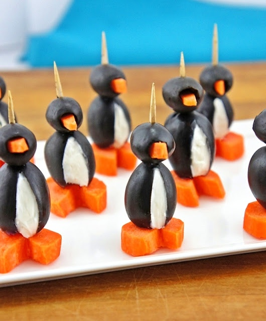 The Kitchen Life of a Navy Wife: Cream Cheese Party Penguins
