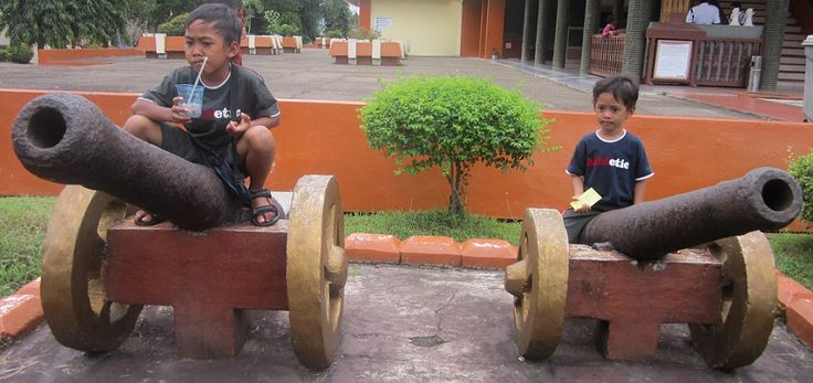 My sons In museum of Lambung Mangkurat