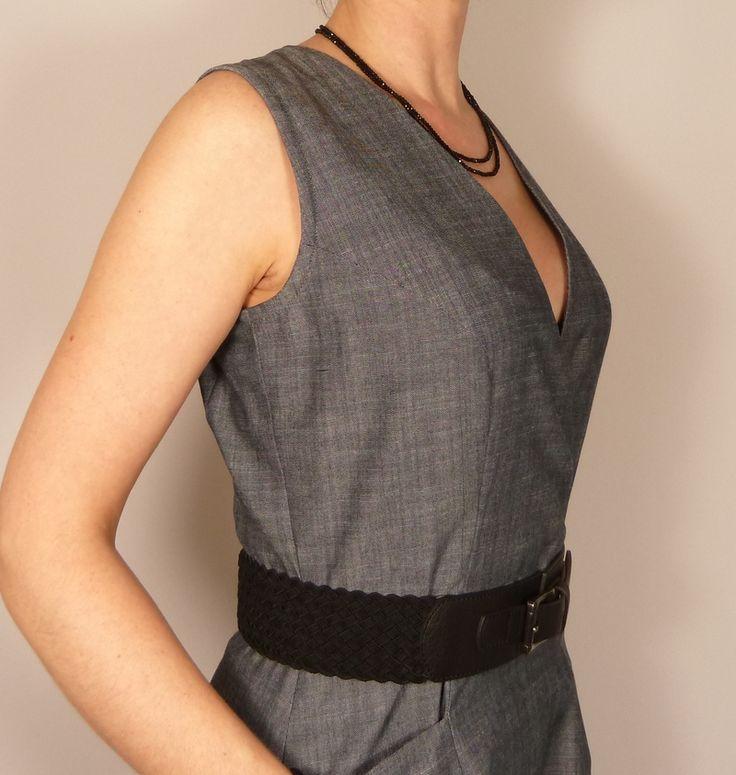 Patron Robe Fuschite // Histoire de coudre - Détail décolleté --- SB Créations Couture [Patron de couture robe / Dress Sewing Pattern]