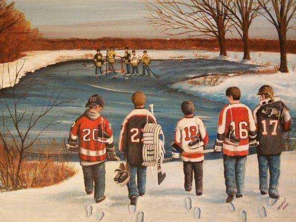 'Winter Classic - 2010' by Ron Genest, #hockey, #sportsart, #shopforart
