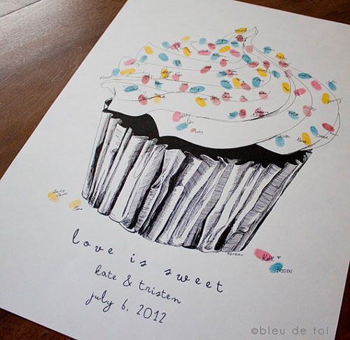Love Is Sweet | Obsessed with this Guest Book alternative that can later be a part of our home decor!!
