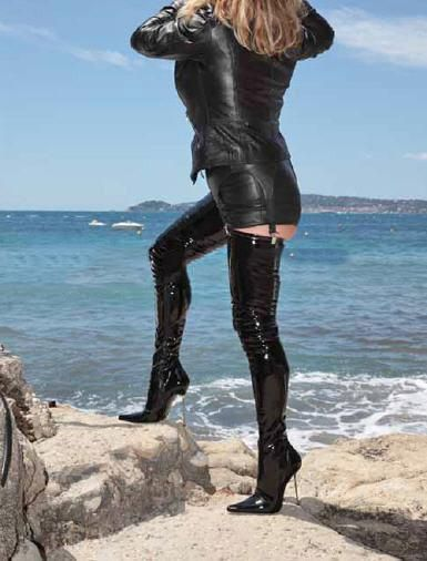 free shipping, $89.45/pair:buy wholesale  extreme hgih heel new women 12cm high heels 5 heels black pu shiny unisex leather boots,sexy women thigh high boots sex fetish crotch boots pu,rubber,over-the-knee on skyshoes's Store from DHgate.com, get worldwide delivery and buyer protection service.