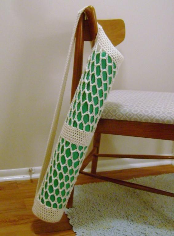 Crochet Yoga Mat Tote: Crochet Grocery Bags Patterns, Plastic Bags, Yoga Bags, Crochet Bags, Mats Totes, Totes Patterns, Crochet Yoga, Yoga Mats, Crochet Patterns