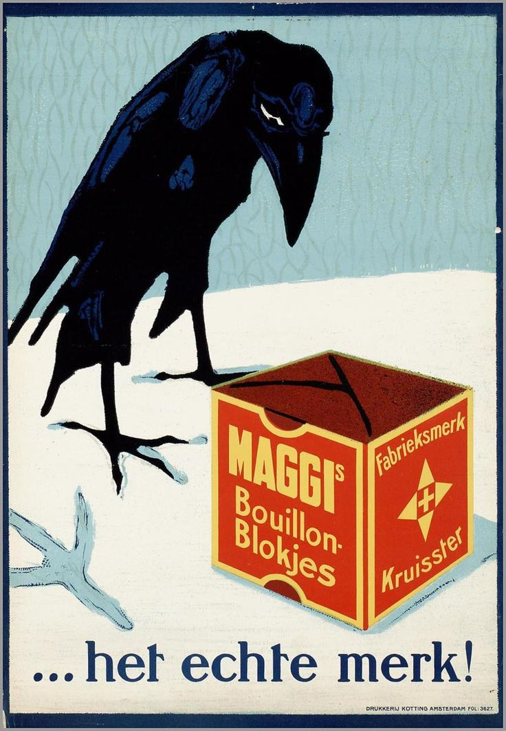 My Ear-Trumpet Has Been Struck By Lightning, cabbagingcove: Maggi's Bouillonblokjes! 1920...