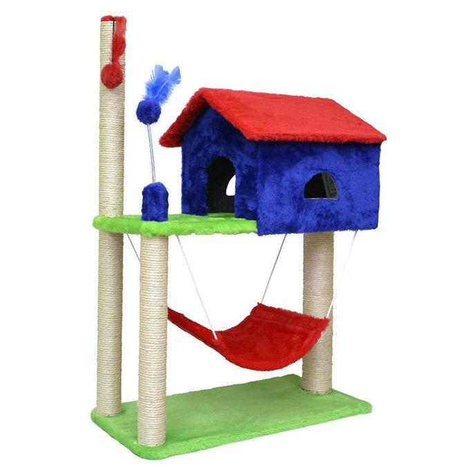 ###Descrição do Produto###    O Arranhador para Gatos House, é de excelente qualidade e encapado com pelúcia, sisal e um elástico com uma bolinha para uma melhor distração e divertimento do seu pet.    ###Dicas Pets na Moda###    Ideal para distrair, interagir, brincar, arranhar, combater o stres...
