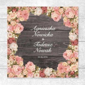 Angielskie róże,  www.papeteriaslubna.pl