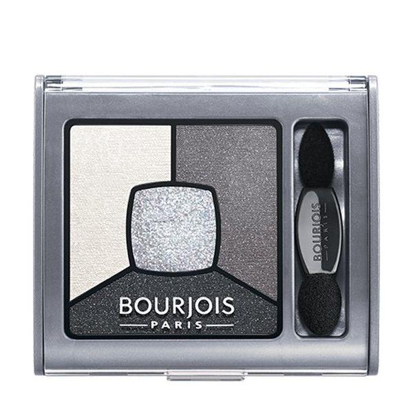 Кремово-пудровая текстура создает идеальный smoky макияж глаз.<br>Инновация: Light Touch- перламутровые частицы (в середине палитры).<br>Стойкость: до 12 часов.<br>4 оттенка в футляре: светлый оттенок – основа, средней интенсивности оттенок - более насыщенный цвет, темный оттенок - эффект подводки, Light Touch (в середине палитры) - придаёт сияние.<br>Широкая сторона аппликатора – для растушевки теней (идеальна для нанесения светлого оттенка).<br>Более тонкая и узкая сторона аппликатор...