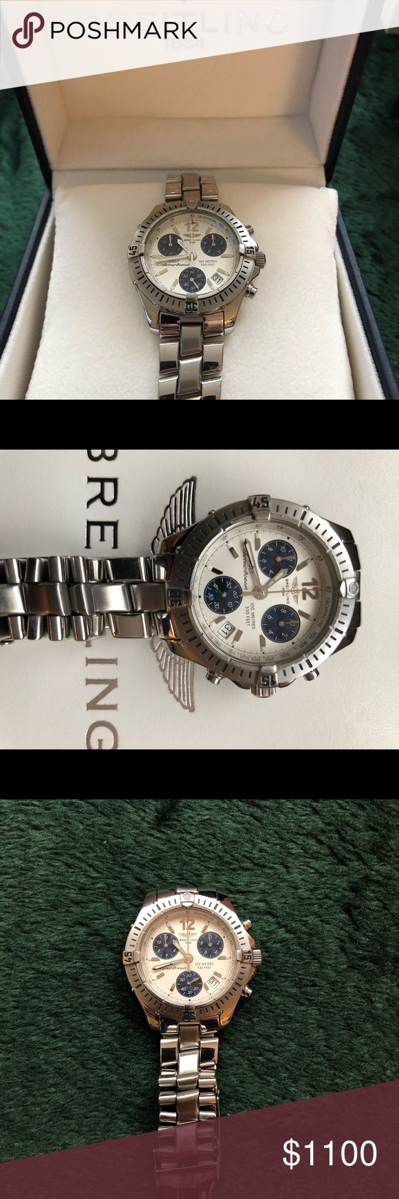 Men's Breitling Colt ChronoOcean Men's mid size Breitling Colt ChronoOcean Original box, travel case, all links. Works perfect. Recently serviced. Crystal is perfect. Minor scratches on band from light use. Please, no low ball offers. This is a high end watch at a great price. Breitling Accessories Watches