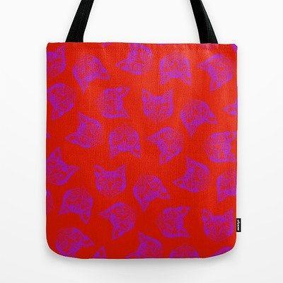 'Mollycat Mash-up' tote bag @society6 ... Copy this shortened url - goo.gl/iTUQQV   _____________________________    #mollycat #totebag #red #instacat #pink #猫 #katzen #katter #fashion #society6 #s6 #shareyoursociety6 #designs #instatotebag #instabag #catstuff #instacats #catdesigns #instalikes #cat #meow #catlover #cats #instacat #cute #mollycatfinland #instafollow #instalike