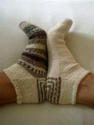 ponožky pletené od paty