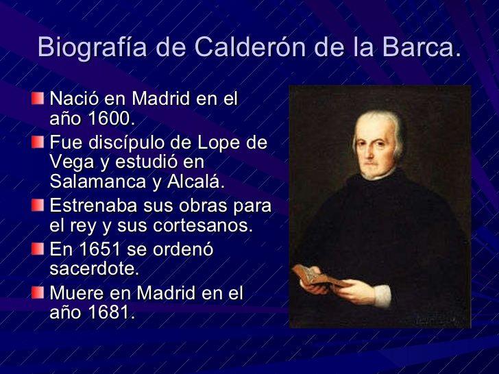 Biografía de Pedro Calderón de la Barca