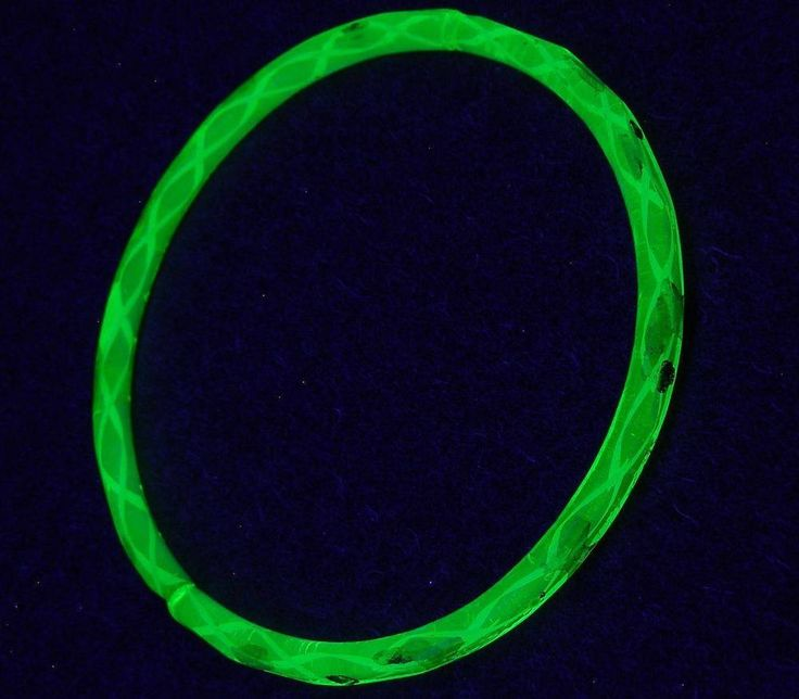 1pc Antique Yellow Gilded Uranium Vaseline Glass Bangle Bracelet Rings 60mm #NA