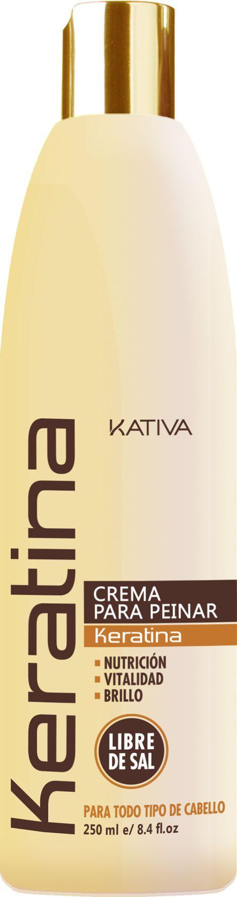 Kativa Keratina Crema para Peinar STYLING Xωρίς άλατα Είναι μια styling cream που κάνει ταυτόχρονα θεραπεία με βάση την κερατίνη (χωρίς άλας). Διευκολύνει το χτένισμα και διατηρεί τέλειο styling όλη μέρα. Βοηθά την αναδιάρθρωση και την ενίσχυση των ταλαιπωρημένων μαλλιών , αφήνοντάς τα λαμπερά και ευκολοχτένιστα. Ελαχιστοποιεί και ελέγχει το φριζάρισμα.