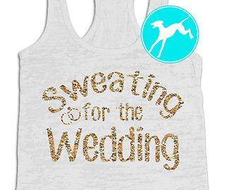 sweating for the wedding tank – Etsy