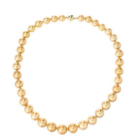 Matahina 10-13mm SSea Gold Rnd Pearl Strand 18ct YG