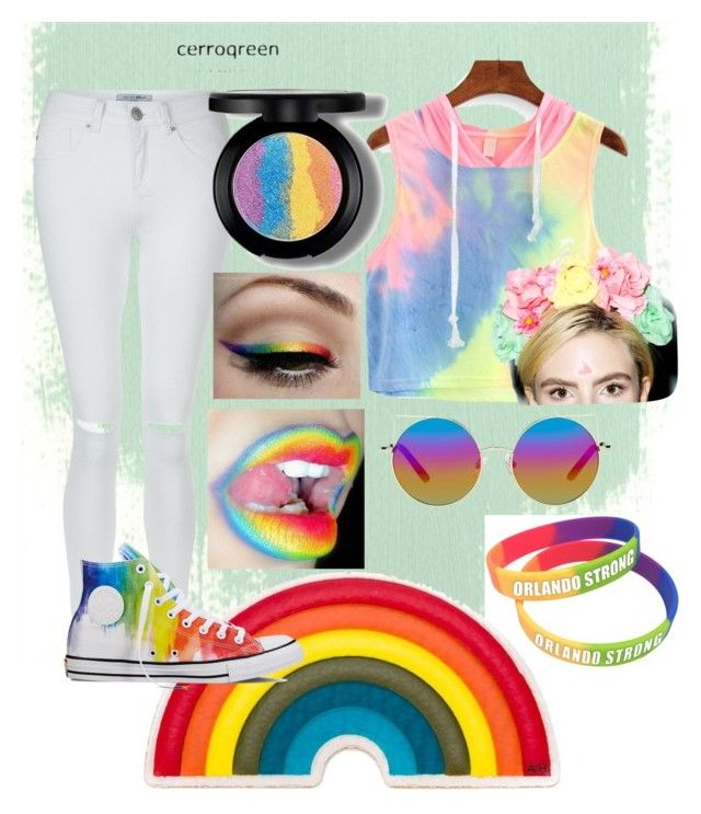 """""""Pride LGBT day outfit"""" by tegan-nesbitt on Polyvore featuring Matthew Williamson, New Look, Anya Hindmarch, Converse and Vox Populi"""