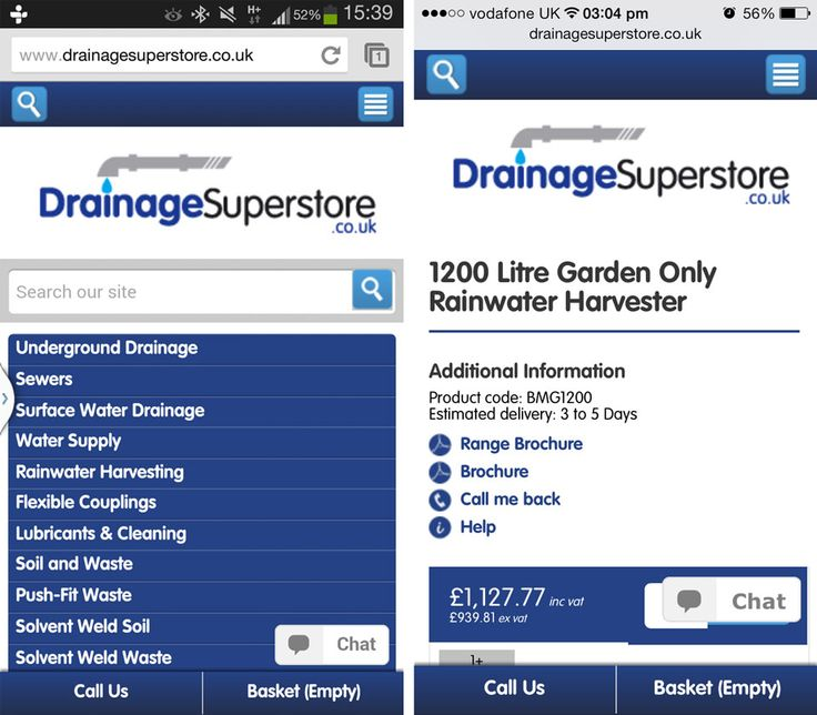 Fully responsive eCommerce web design for new Drainage Superstore website