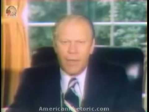 September 8, 1974: US President Gerald R. Ford pardons former US President Richard M. Nixon for any actions that may have occurred during his presidency.