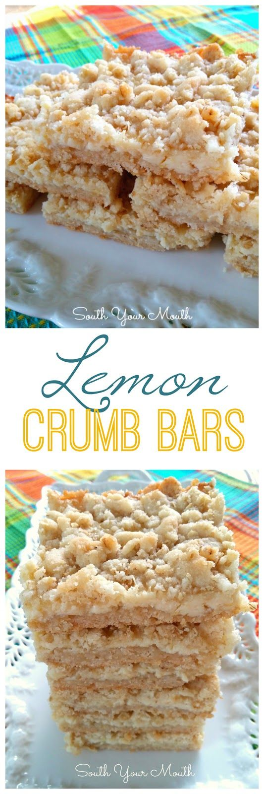 Lemon Crumb Bars - Just the right amount of sweetness with the tart lemons and a beautiful contrast in texture with the crumbly topping and creamy filling. So good!