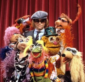 You know, even when the Muppets AREN'T dressing like Elton, they still look weirder than him at his most outrageous! );D