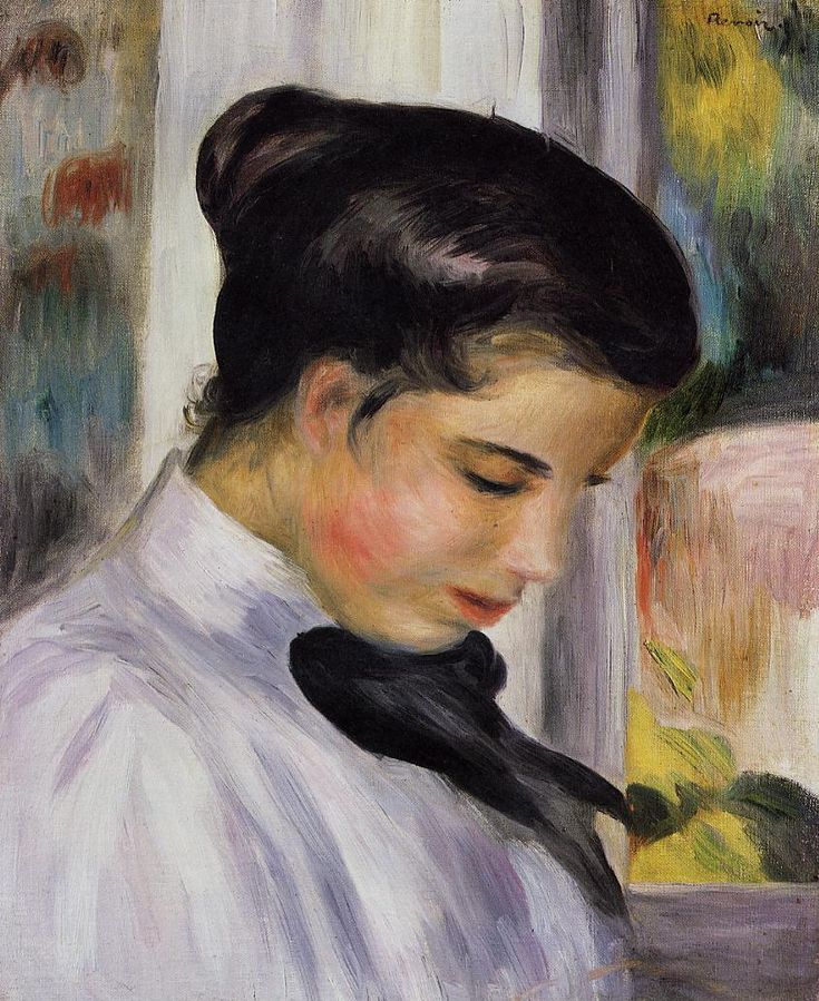 Young Woman in Profile - Pierre-Auguste Renoir