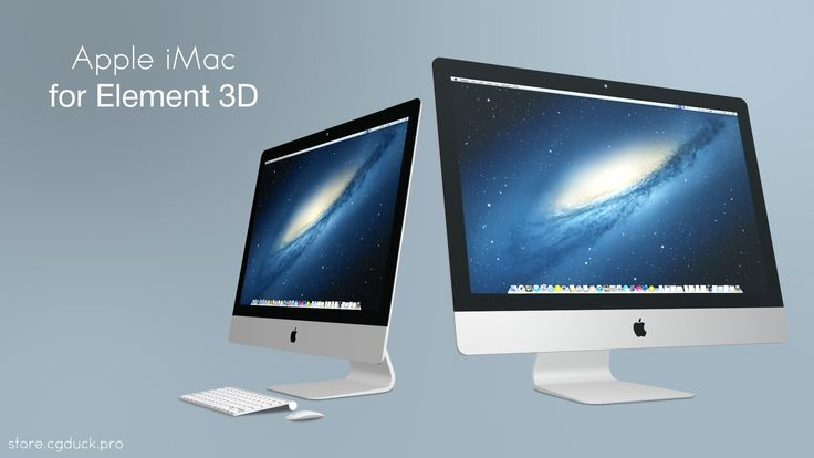 Apple iMac 3D models for Video Copilot's Element 3D