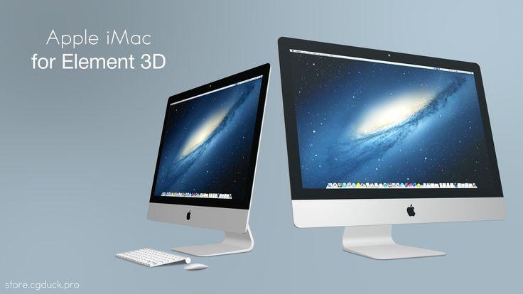 Apple iMac 3D models for Video Copilot's Element 3D