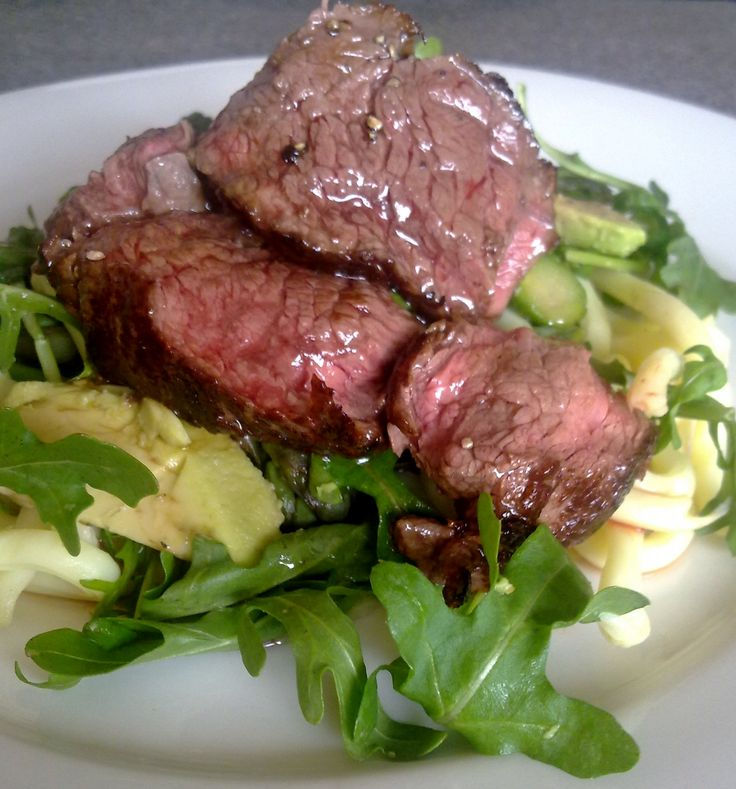 Recipe of the Week - Steak and Noodle Salad I love to use kangaroo steak in this recipe.If you don't fancy 'roo or it's unavailable beef is a good alternative.