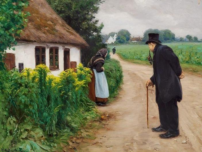 """H. A. Brendekilde - """"An old couple"""""""