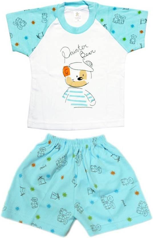 #Kid's Care #Boys #Casual #T-#shirt Pant  (#Blue)