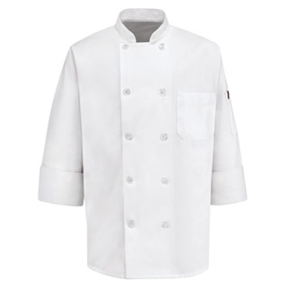 Chef Designs 415, Men's Ten Pearl Button Chef Coat -  65% Polyester / 35% Cotton