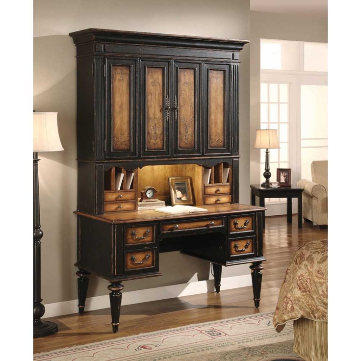 north hampton traditional desk with hutch hooker furniture north hampton collection