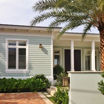 Exterior color copen blue sw 0068 and sherwin williams - Coastal home exterior color schemes ...