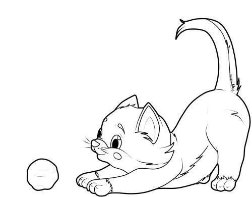 baby katze ausmalbild | ausmalbilder katzen, ausmalbilder