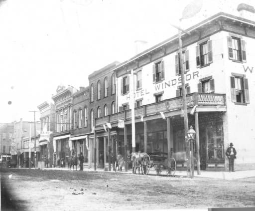 This Circa 1890 View From The Southeast Corner Of Third And Georgia Streets Shows Hotel
