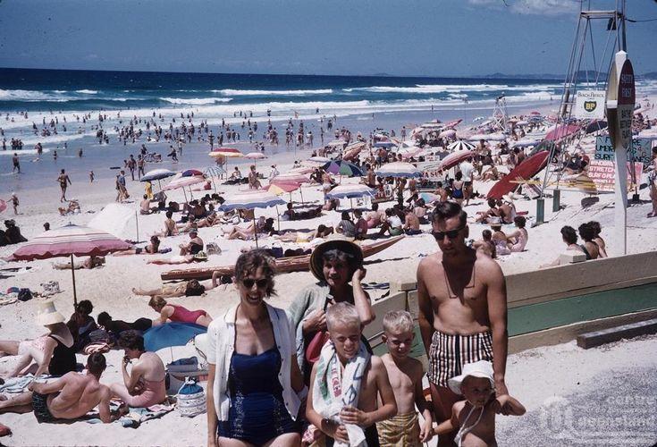 Beach on a Sunday, Surfers Paradise - circa 1970's