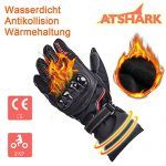 nice Motorradhandschuhe Herren, Atshark Motorrad Handschuhe Wasserdicht Touchscreen Handschuhe 2KP Warm Winterhandschuhe Kälteschutz Rutschfest Fahrradhandschuhe Herren Damen für Skifahren Wintersport