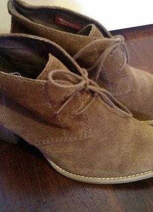 Kaufe meinen Artikel bei #Kleiderkreisel http://www.kleiderkreisel.de/damenschuhe/stiefeletten/139046833-braune-wildleder-stiefeletten-von-tamaris