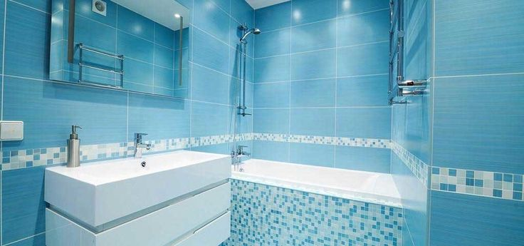 Bathroom Blue Wall Tile Designs Ideas