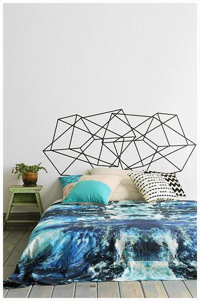 diy washi tape headboard - Our BLOG - Vanilla Slate Designs, Interior designers, Bloggers & Online home ware store based in Sydney.