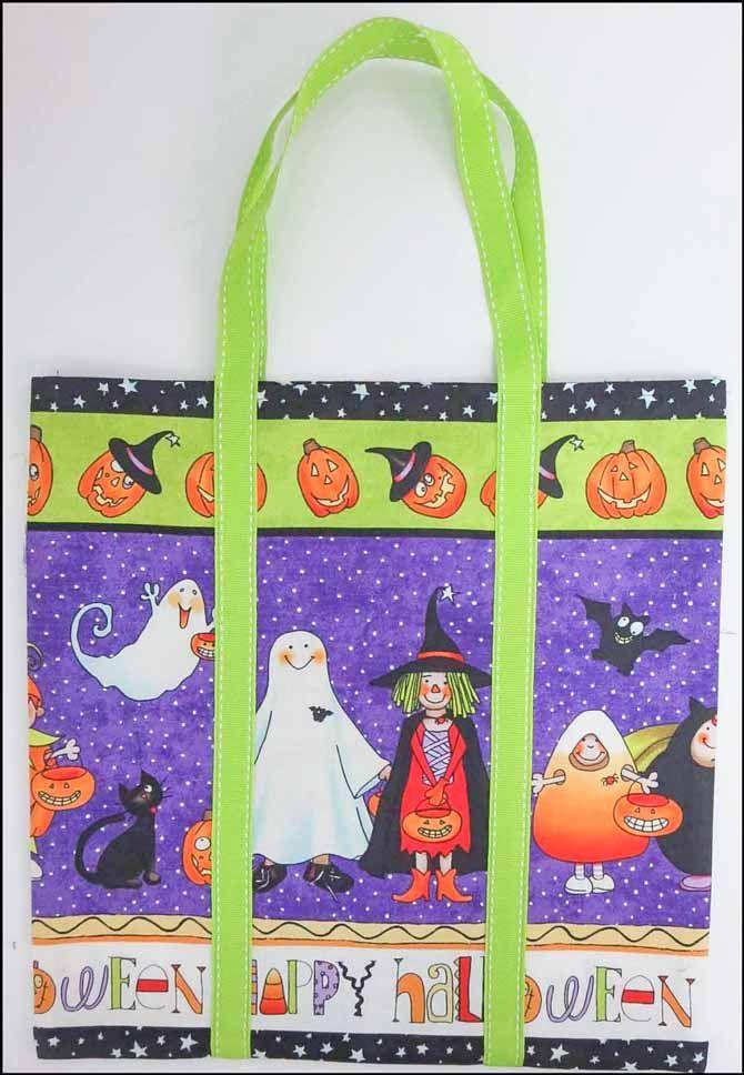 fabric halloween treat bag pattern