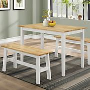 new york table with 2 benches