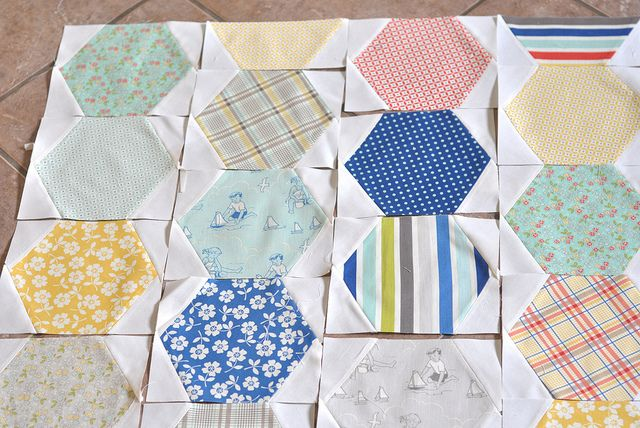 """DSC_1038 by a crafty fox ~ amanda, via Flickr.  This blog has a really good quilt tutorial.  Looks like it would be fairly straightforward, if not """"easy"""", for a beginner."""