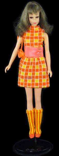 Brunette Francie Fairchild® in #1209 Mini-Chex™ ©1968 at Serious Toys.