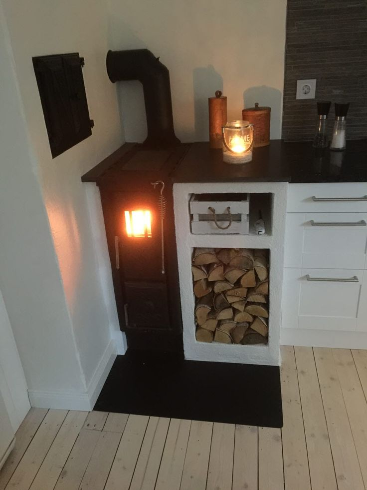 Viking 30 woodstove, great for narrow spaces