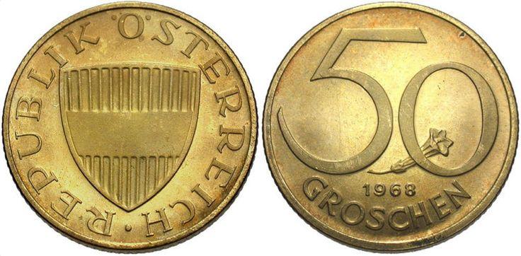 Coin: Austria: 1968 50 Groschen Proof #Wc70479