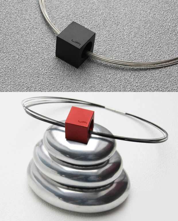 CUBUS CAVUM necklace-LOVE SIMPLICITY collection. Tomas Holub - minimalist jewelry made of anodized and polished aluminum. Enjoy your own piece of aluminum!
