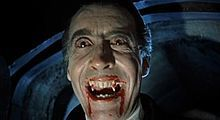 Christopher Lee as the title character in Dracula in 1958