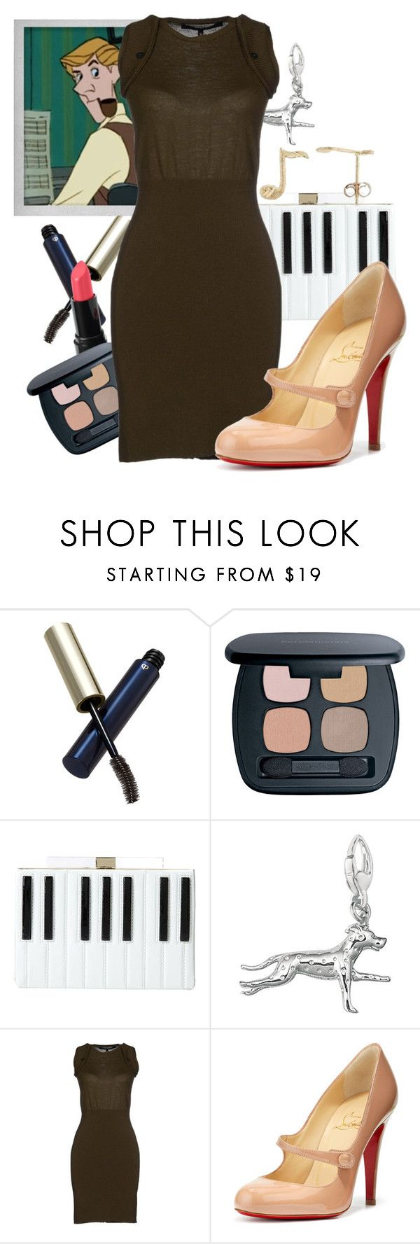 """""""Cocktail Party - Roger Radcliffe"""" by alexxhutcherson ❤ liked on Polyvore featuring Radcliffe, Clé de Peau Beauté, Polaroid, Bare Escentuals, Kate Spade, Karl Lagerfeld and Christian Louboutin"""